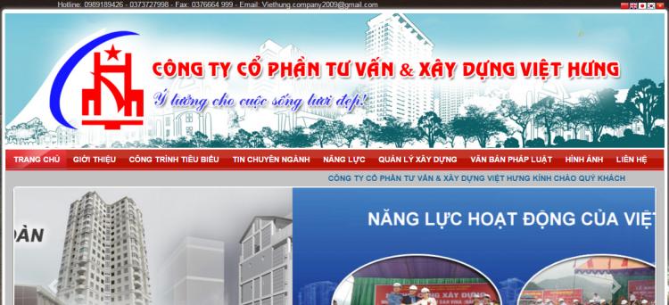 Dự án Công Ty CP Xây Dựng Việt Hưng